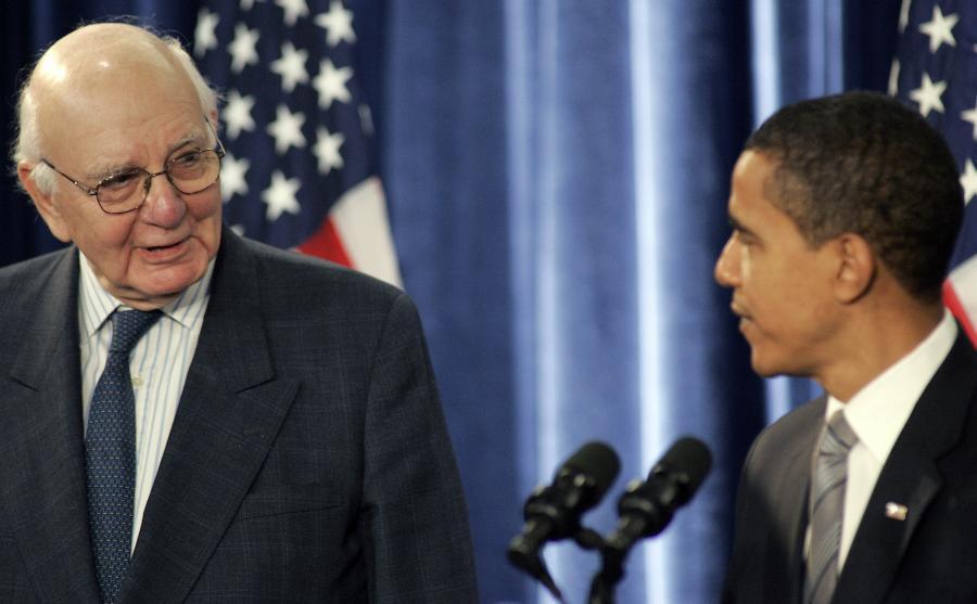 Prezydent Obama i szef doradców Volcker