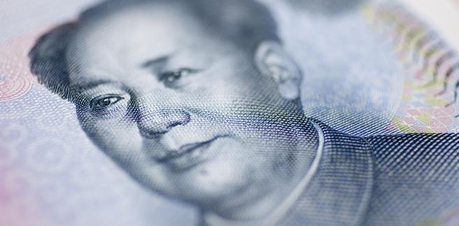 Mao Zedong widoczny na chińskim banknocie o nominale 10 juanów. 1 października 1949 na placu Tian'anmen Mao ogłosił powstanie Chińskiej Republiki Ludowej.