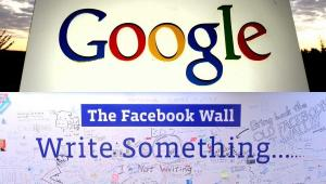 Logo Facebooka i Google
