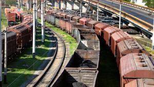 pociąg towarowy, kolej, tory
