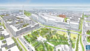 Nowe Centrum Łodzi - widok z lotu ptaka, źródło: Materiały prasowe EC1 Łódź-Miasto Kultury