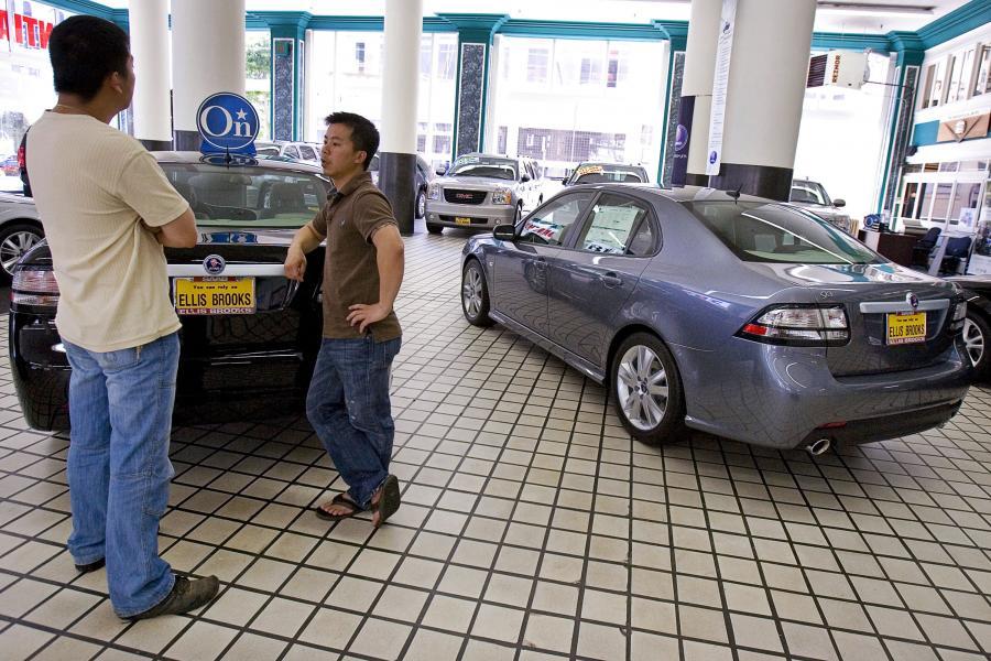Samochody GM w salonie dealera