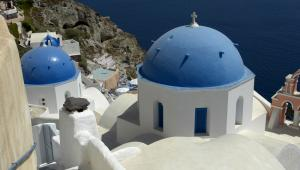 widok na grecką wyspę Santoryn, fot. Rui Vale de Sousa
