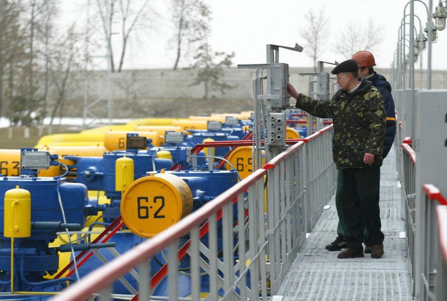 Stacja przesyłowa gazu na Ukrainie w miejscowości Bojarka
