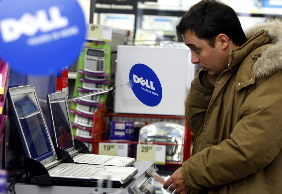 Laptopy Della w nowojorskim sklepie. fot. Bloomberg