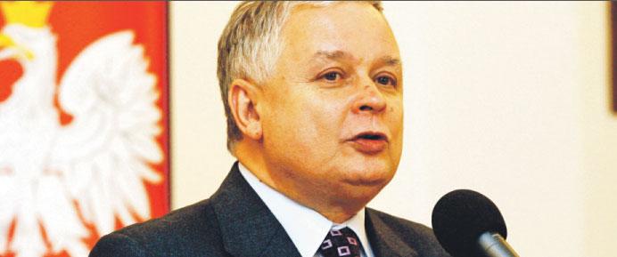 Prezydent Lech Kaczyński.