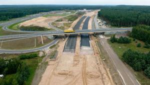 Budowa autostrady A1 na odcinku Nowe Marzy - Toruń. fot. Kacper Kowalski aeromedia.pl. Źródło: materiały prasowe Ministerstwa Infrastruktury