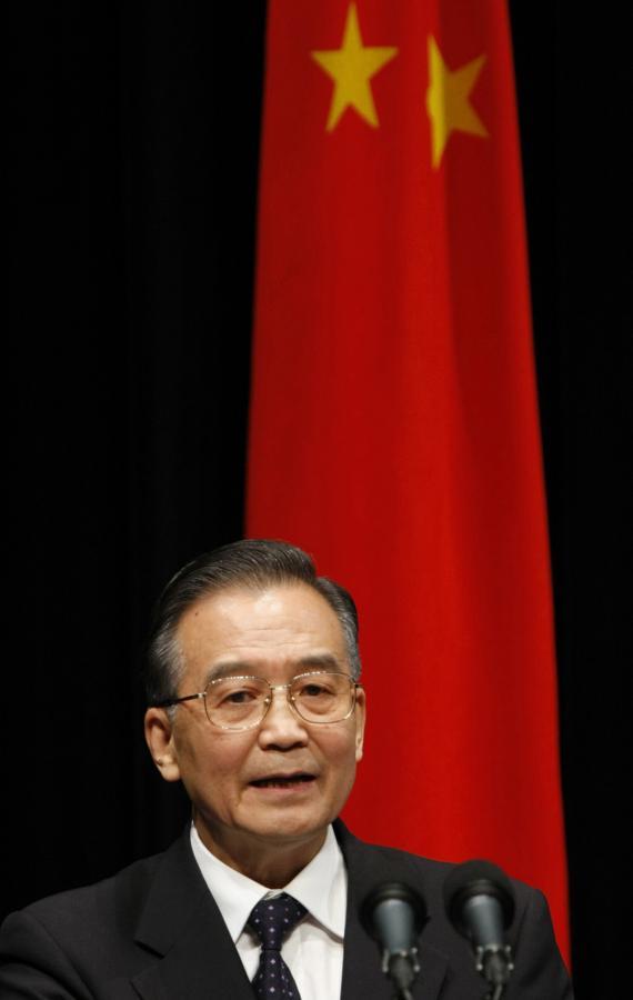 Szef chińskiego rządu, Wen Jiabao