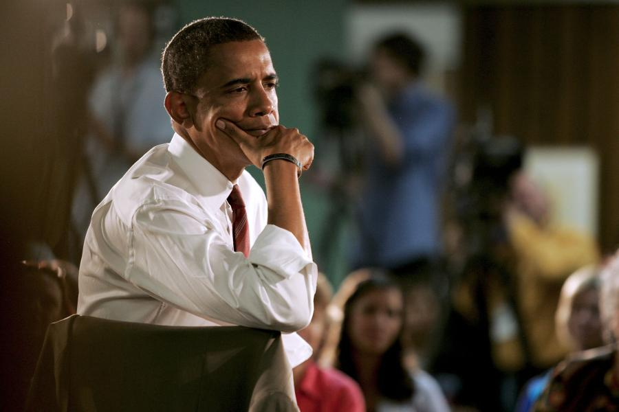 Barack Obama ma o czym myśleć...