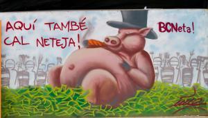 Hiszpanie nie chcą płacić za kryzys, który w ich mniemaniu spowodowały błędy bankierów. Na zdjęciu mural w Barcelonie. Fot. Anky / Shutterstock.com