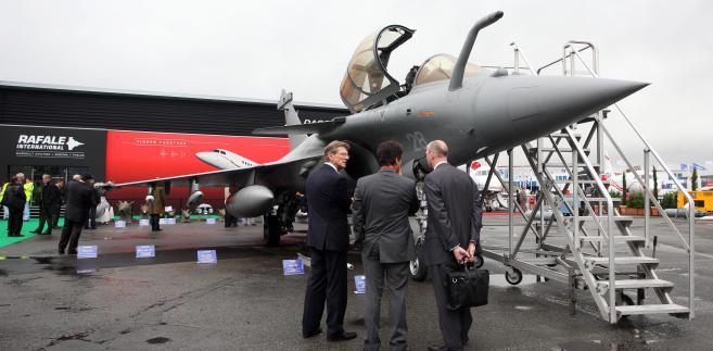 Myśliwiec Dassault Rafale na wystawie w trakcie Paris Air Show w Paryżu, Francja. fot. Chris Ratcliffe