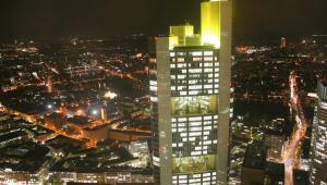 Widok na centrum Frankfurty, stolicy finansowej Niemiec.