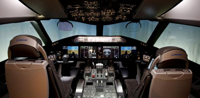 Kokpit pilotów Dreamlinera 787 fot. Kevin P. Casey/Bloomberg