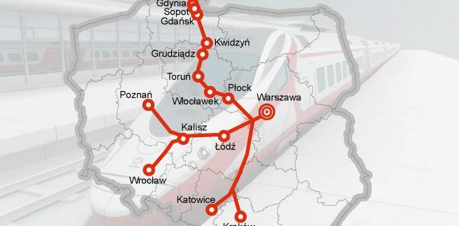 Tak według planów z 2011 roku miała wyglądać sieci kolei dużych prędkości w Polsce w 2025 roku.