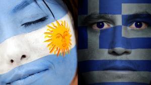 Flagi Grecji i Argentyny materiały Shutterstock