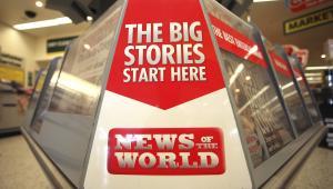 Reklama gazety News of the World, która po 168 latach działalności przestaje się ukazywać