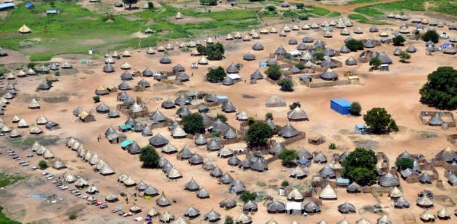 Tradycyjna wioska w Sudanie Południowym.