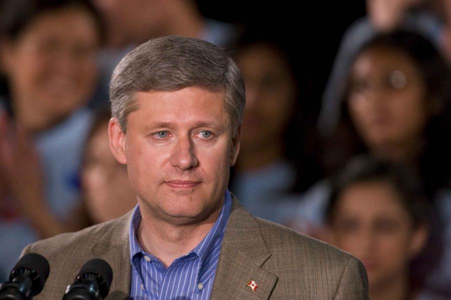 Stephen Harper, premier Kanady. Fot. Bloomberg
