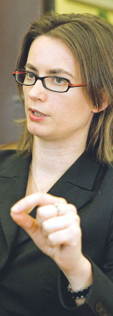 Katarzyna Zajdel-Kurowska, przed objęciem funkcji wiceministra finansów była m.in. głównym ekonomistą w Citibank Handlowy. Jest współzałożycielem i członkiem Polskiego Stowarzyszenia Ekonomistów Biznesu Fot. Wojciech Górski