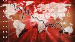 mapa świata, wykres, kryzys