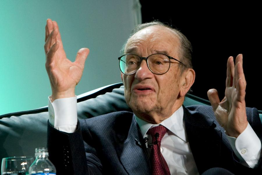 Alan Greenspan, były prezes Fed. Fot. Bloomberg