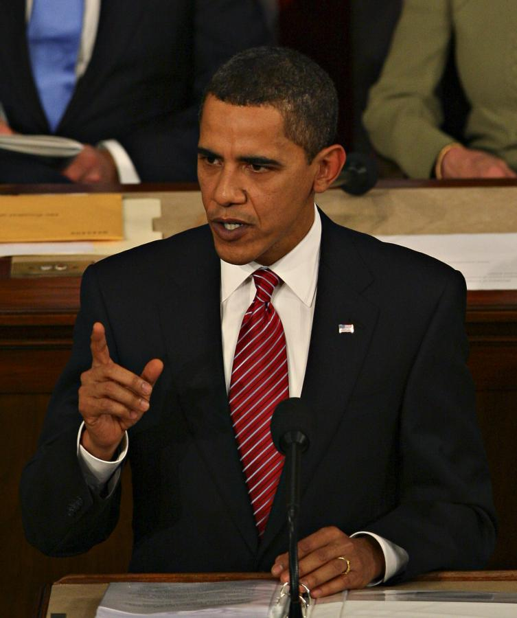 Barack Obama przemawia przed amerykańskim Kongresem