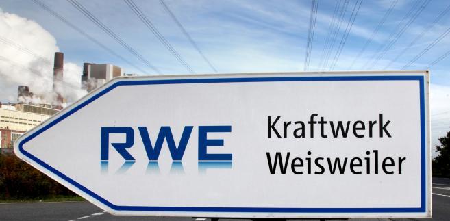 Logo RWE AG. Fot. Hannelore Foerster/Bloomberg