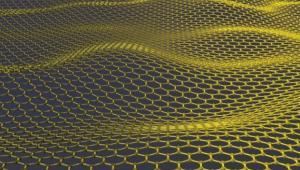 Artystyczna wizualizacja grafenu, atomy węgla ułozone w hesoidalną sieć. źródło: Jannik Meyer/University of Manchester via Bloomberg