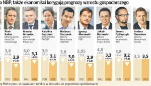 Nie tylko NBP, także ekonomiści korygują prognozy wzrostu gospodarczego