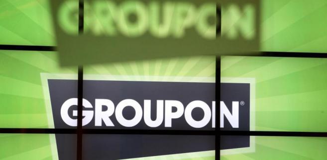 Logo Groupon. Fot. Tim Boyle/Bloomberg