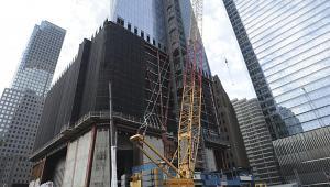 Budowa wieżowca One World Trade Center, sierpień 2011 r., fot. Paul Goguen/Bloomberg