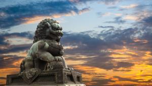 Chińska rzeźba lwa, fot. chungking