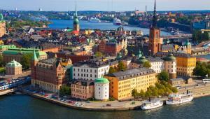 Panorama Sztockholmu, stolicy Szwecji