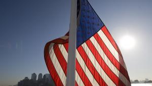 Flaga USA, fot. Andrew Harrer/Bloomberg News