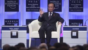 Chiński premier Wen Jiabao podczas otwarcia Światowego Forum Ekonomicznego w Dalian, 14. września 2011. Fot. Nelson Ching/Bloomberg