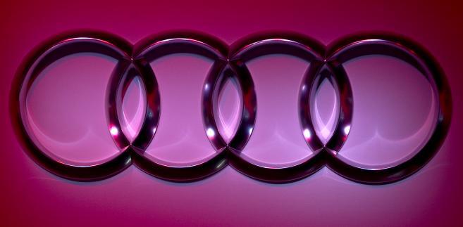 Logo Audi. Fot. Andrew Harrer/Bloomberg
