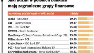 Jaki udział w polskich bankach mają zagraniczne grupy finansowe
