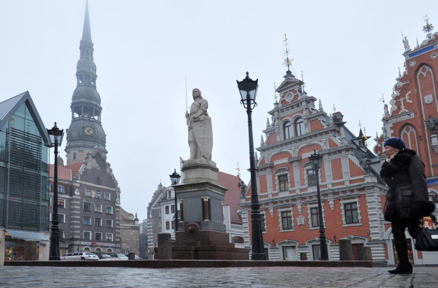 Ulice Rygi (Łotwa). Fot. Bloomberg
