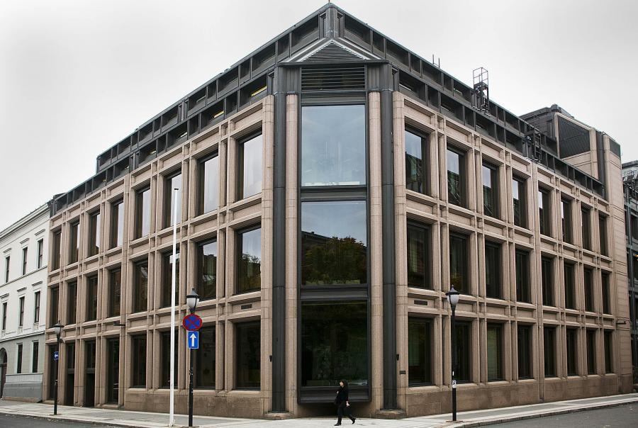 Siedziba norweskiego banku centralnego, fot. Bloomberg