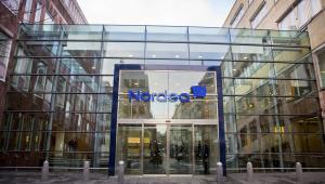 Główna siedziba banku Nordea AB w Sztokholmie w Szwecji.