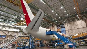 Zakłady Boeing Co. w Everett w stanie Washington; montaż samolotu 787 Dreamliner