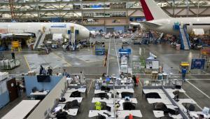Zakłady Boeing Co. w Everett w stanie Washington - montaż 787 Dreamliners