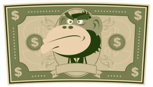 Banknot z wizerunkiem małpy