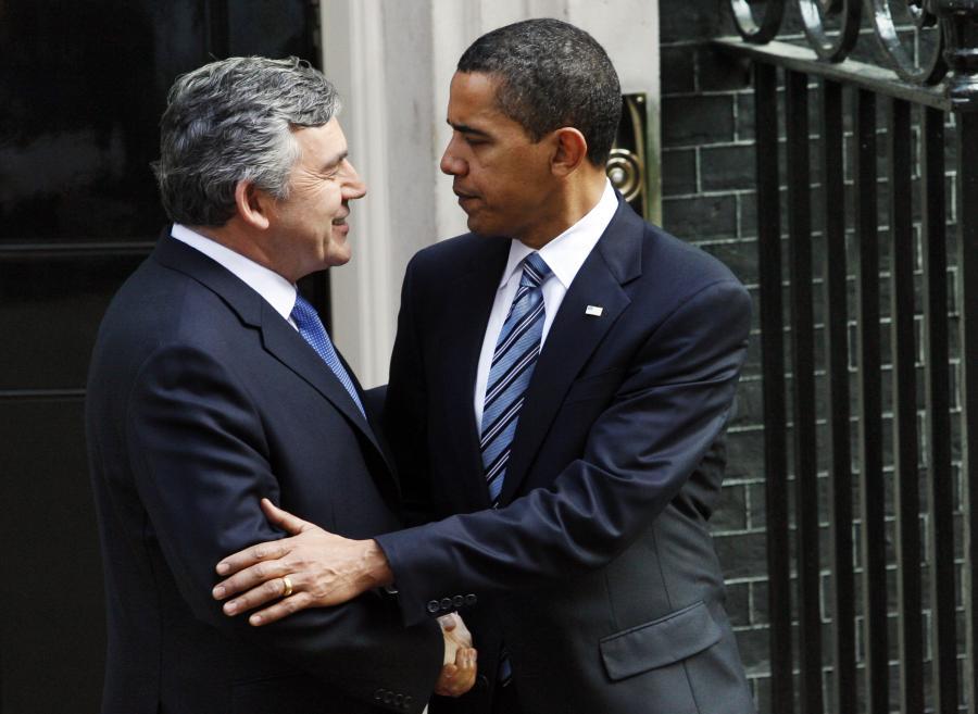 Prezydent USA Barack Obama i premier Wielkiej Brytanii Gordon Brown, fot. Bloomberg