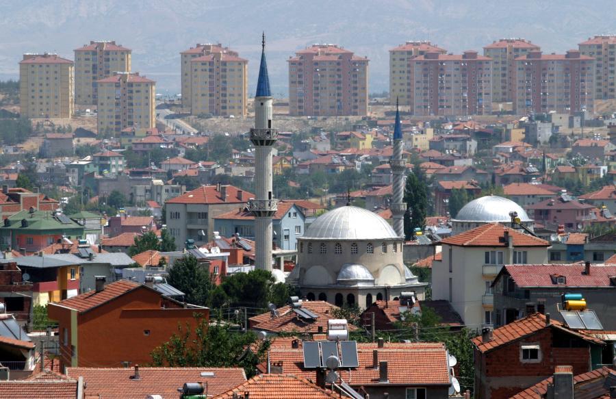 Miasto Denizli na zachodzie Turcji