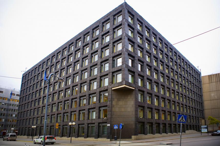 Siedziba Riksbanku - szwedzkiego banku centralnego, w Sztokholmie