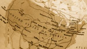 Mapa Stanów Zjednoczonych Ameryki, fot. Sean Gladwell