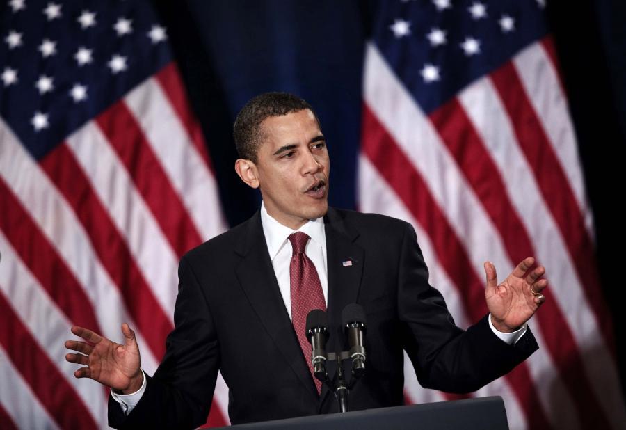 Prezydent USA Barack Obama na Uniwersytecie Georgetown w Waszyngtonie