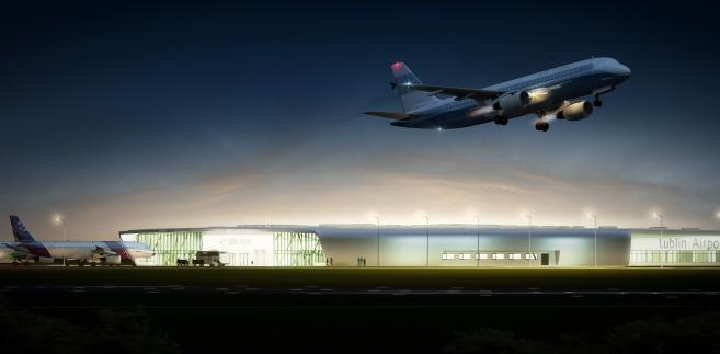 Wizualizacja terminalu lotniska w Świdniku k.Lublina
