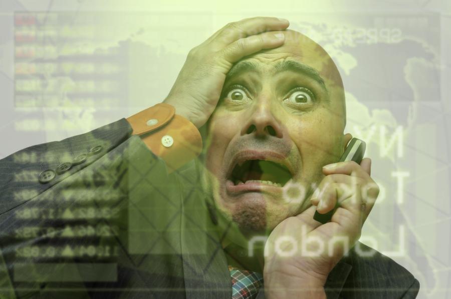 Inwestor, panika na giełdzie Fot. Shutterstock